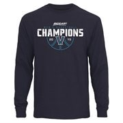 Men's Navy Blue Villanova Wildcats 2015 Big East Men's Basketball Conference Tournament Champions Long Sleeve T-Shirt