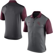 Men's Nike Gray Florida State Seminoles 2015 Coaches Preseason Sideline Polo
