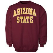 Arizona State Sun Devils Bold Arch Crew Sweatshirt - Maroon