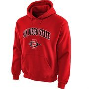 San Diego State Aztecs Midsize Arch Pullover Hoodie - Scarlet