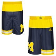 Men's adidas Navy Blue Michigan Wolverines 2015 March Madness Replica Basketball Shorts