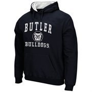 Mens Butler Bulldogs Navy Blue Arch & Logo Mascot Pullover Hoodie