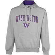 Washington Huskies Ash Classic Twill Hoodie Sweatshirt