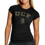 UCF Knights Women's Big Arch & Logo Heathered T-Shirt - Black