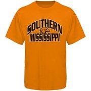Men's Southern Miss Golden Eagles Russell Gold Sideline 50/50 T-Shirt