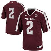 adidas Texas A&M Aggies #2 Youth Replica Football Jersey - Maroon