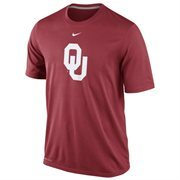 Nike Oklahoma Sooners Logo Legend Dri-FIT Performance T-Shirt - Crimson