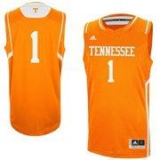 Mens No. 1 Tennessee Volunteers adidas Tennessee Orange Replica Basketball Jersey