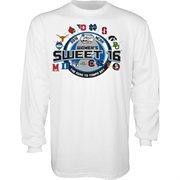 Men's White 2015 NCAA Women's Basketball Tournament Sweet 16 Group Long Sleeve T-Shirt