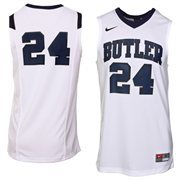 Nike Butler Bulldogs #24 Replica Basketball Jersey - White