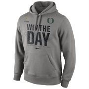 Mens Oregon Ducks Nike Gray 2015 College Football Playoff Bound Performance Hoodie