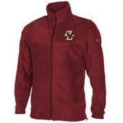 Columbia Boston College Eagles Flanker Full Zip Fleece Jacket - Maroon