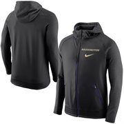 Men's Nike Black Washington Huskies Disruption Therma-FIT Full Zip Hoodie