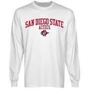 San Diego State Aztecs Team Arch Long Sleeve T-Shirt - White
