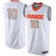 Men's Syracuse Orange Nike White No. 10 Replica Master Jersey
