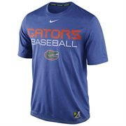 Mens Nike Royal Blue Florida Gators Baseball Team Issue Legend Performance T-Shirt