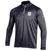 Men's Butler Bulldogs Under Armour Black Performance Quarter-Zip T-Shirt