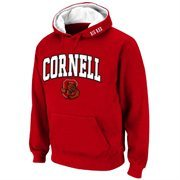 Cornell Big Red Arch Logo Pullover Hoodie Sweatshirt - Carnelian