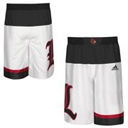 Men's adidas White Louisville Cardinals 2015 March Madness Replica Basketball Shorts