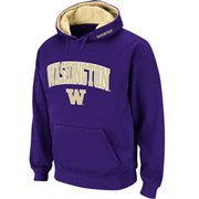 Mens Washington Huskies Purple Classic Arch Logo Twill Hoodie