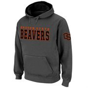 Oregon State Beavers Knockout Pullover Hoodie - Charcoal