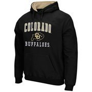 Mens Colorado Buffaloes Black Arch & Logo Mascot Pullover Hoodie