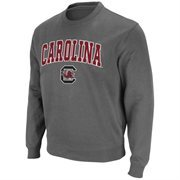 Mens South Carolina Gamecocks Charcoal Arch and Logo Sweatshirt