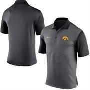 Men's Nike Black Iowa Hawkeyes 2015 Coaches Preseason Sideline Polo