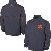 Mens Clemson Tigers Charcoal Big & Tall 1/4 Zip Wind Jacket