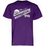 Men's Purple TCU Horned Frogs 2015 Big 12 Regular Season Baseball Champions Locker Room T-Shirt