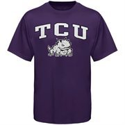 Mens Purple TCU Horned Frogs Arch Over Logo T-Shirt
