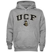 Mens Gray UCF Knights Arch Over Logo Hoodie