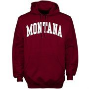 Mens Montana Grizzlies Maroon Bold Arch Hoodie