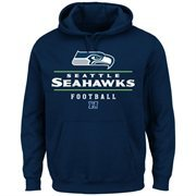 Mens Seattle Seahawks College Navy Vital Win Pullover Hoodie