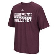 Men's adidas Maroon Mississippi State Bulldogs Baseball Practice Graphic ClimaLITE T-Shirt