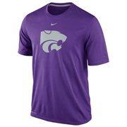 Nike Kansas State Wildcats Logo Legend Dri-FIT Performance T-Shirt - Purple