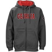 Georgia Bulldogs Charcoal Classic Twill Full Zip Hoodie Sweatshirt