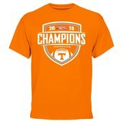 Mens Tennessee Volunteers  Tennessee Orange 2015 TaxSlayer Bowl Champions T-Shirt