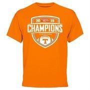 Mens Tennessee Volunteers  Tennessee Orange 2015 TaxSlayer Bowl Champions T-Shirt