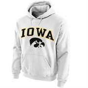 Iowa Hawkeyes Midsize Arch Pullover Hoodie - White