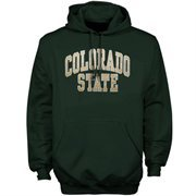 Mens Colorado State Rams Green Bold Arch Hoodie