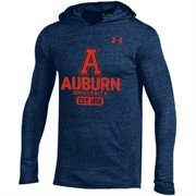 Men's Under Armour Navy Blue Auburn Tigers Tri-Blend Performance Hoodie