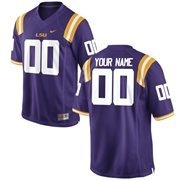 LSU Tigers Nike Team Color Custom Game Jersey - Purple