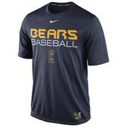 Mens Nike Navy Blue Cal Bears Baseball Team Issue Legend Performance T-Shirt