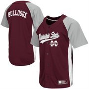Mens Mississippi State Bulldogs Maroon Dugout Baseball Jersey