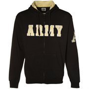 Army Black Knights Black Classic Twill Full Zip Hoodie Sweatshirt