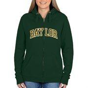 Baylor Bears Women's Arch Applique Full Zip Hoodie - Green