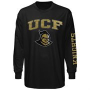 Mens UCF Knights Black Arch & Logo Long Sleeve T-Shirt