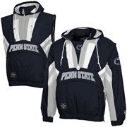 Penn State Nittany Lions Captain Half-Zip Hooded Jacket - Navy Blue