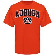 Mens Orange Auburn Tigers Arch Over Logo T-Shirt